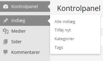 Opret WordPress indlæg og kategorier