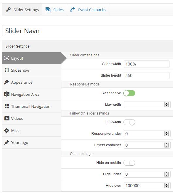 LayerSlider layout