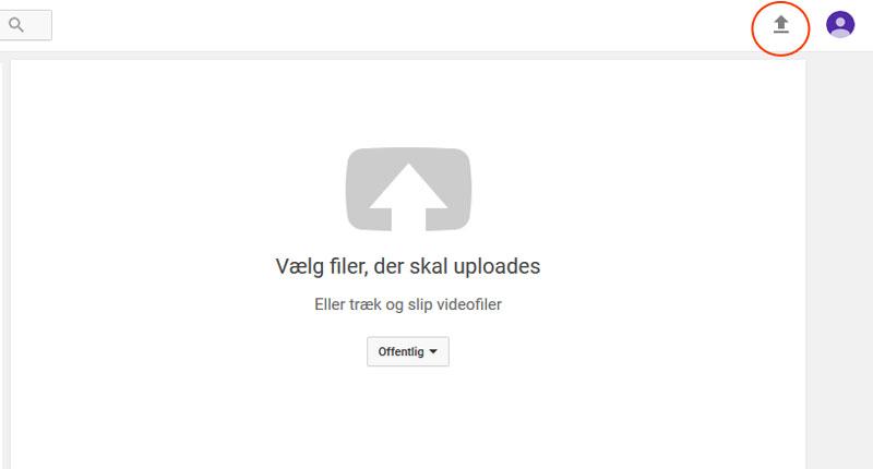 Upload video til YouTube