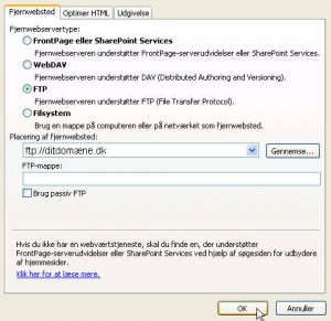 Microsoft Frontpage FTP