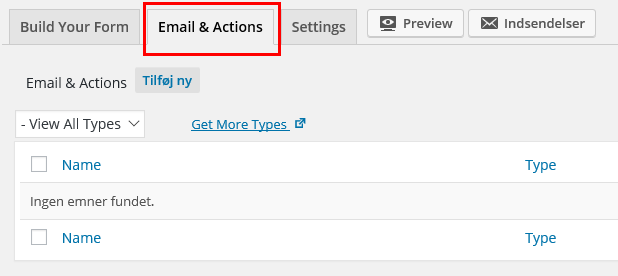 Email & Actions