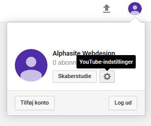 Opsætning af YouTube kanal